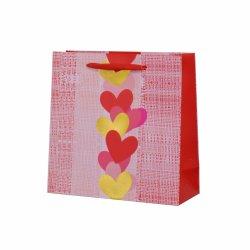 El rojo romántico día de San Valentín Día de la madre embalaje bolsa de papel de regalo