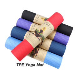 """Superventas de TPE Antideslizante alfombrillas de Yoga para gimnasio en casa con acceso gratuito a Correa, marca personalizada 72""""x24"""" de 1/4"""" Extra Grueso botín Yoga Pilates Ejercicios de Fitness Mat"""