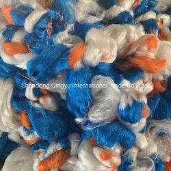 A cor azul de camada única aos multifilamentos corda de nylon Edge de HDPE Monofilamentos cuja rede de pesca