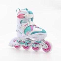 Skate Inline ajustables con forro de confort de lujo con correa de alimentación para las niñas y damas y mujeres en13843: 2009