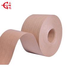 Reforzado con Fibra de agua marrón engomados de cinta de papel Kraft activo