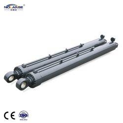 Os fabricantes de pistão hidráulico Design de fábrica personalizada de longo curso de ação dupla de Engenharia de cilindros hidráulicos telescópicos para venda fabricados na China