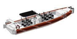 Aqualand 39feet 12mの25personアルミニウム肋骨のレスキューパトロールか堅く膨脹可能な乗客水タクシーのボート(SR1200)