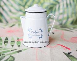 Эмаль чайник/кофейник с крышкой