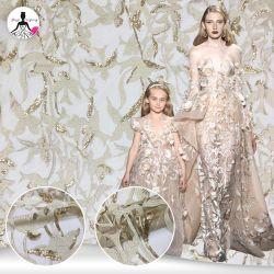2018 Fashion Show изысканный Sequin вышитый свадебные платья кружевной ткани