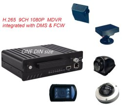 HD de 1080P 8CH um DIN H. 265 DVR móveis 4G adas