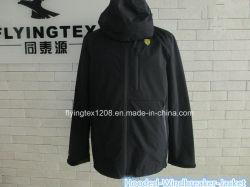 Mens Ветровку средней длины водонепроницаемый слой колпачковая куртка