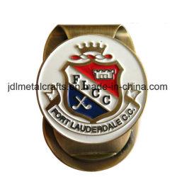 Vendita All'Ingrosso Antiquariato D'Epoca Oro Smalto Morbido Metallo Uomo/Alluminio/Ottone/Economici Ferro Pocket Golf Card Holder Money Clip (014)