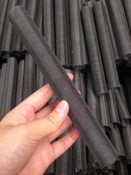 As telas do extrusor cilíndricos feitos de pano de fio preto