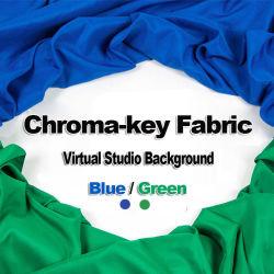 Coupe de grande taille librement Photographie studio virtuel de fond Chroma Key tissu de fond d'écran, tissu sur écran bleu