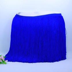 Nappa di nylon della frangia del filetto del commercio all'ingrosso 20cm doppia per il vestito da Dancing