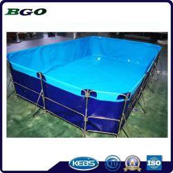 Serbatoio di acqua materiale rivestito dello stagno di pesci del PVC