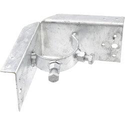 Valla de tela metálica de acero galvanizado de madera para el adaptador de la esquina posterior