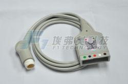 Cable del cable 12p 5ld ECG del monitor paciente de Philips 1k