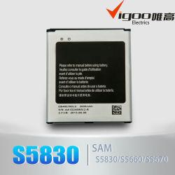 S5830 het Werk van de Batterij voor Toebehoren van de Telefoon van Samsung de Mobiele