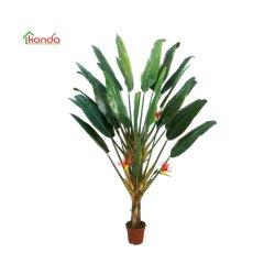 La migliore banana decorativa di plastica di vendita degli alberi di verde artificiale della pianta lascia la pianta dei bonsai di Canna