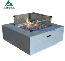 Fußbeton-im Freien quadratische Gas-Feuer-Vertiefung