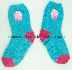 Stickerei-Firmenzeichen Microfiber Socken mit Gleitschutzpunkten