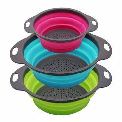 Três tamanhos de silicone para os frutos da cesta do filtro de Água do Filtro de Limpeza de produtos hortícolas