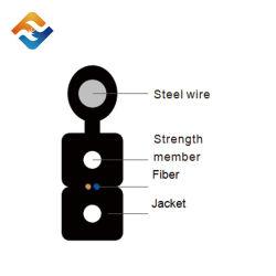 Singolo modo esterno alla fibra dell'interno di Fibra Optica FTTH del filo di acciaio