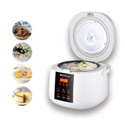 Smart Elektro-Küchengerät mit Multifunktions-Allzweck-Herd Dampf, Kuchen, Eintopf, langsames Kochen, Congee, Voreingestellter Timer, Nachheizen