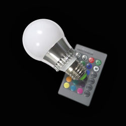 Preiswertes Brandnew LED 3W RGB Bulb Light E27 E14 GU10 Remote Control RGB 16 Colors Flash LED Spot Light Bulb Lamp