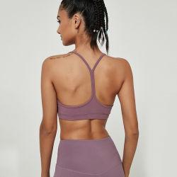 Gimnasio vestir ropa deportiva cintura alta Pantalón Yoga Yoga Ejercicios de yoga desgaste Womens polainas de desgaste