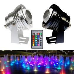 AC85-265V 12V IP68가 수중 연못 빛에 의하여 10W LED RGBW Fontain 점화한다