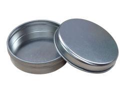 Boîte métallique ronde pilule de gros de cas d'étain