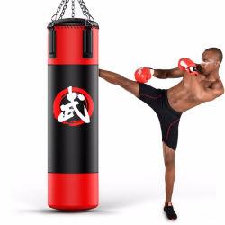 El entrenamiento de fuerza elástica de la bolsa de arena Infilled Pesados de Boxeo de perforación