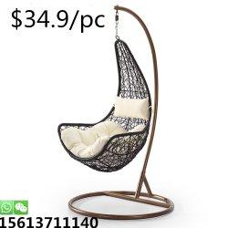 Venda a quente de vime exterior Banquetes Coração penduradas Mobiliário doméstico de ovo em forma de cadeiras de Giro