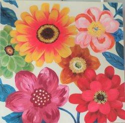 Grande pintado à mão e Flores Butterfly Wall Art Modern pintura a óleo decoração contemporânea de arte (40 x 40 polegadas) GF-P19052776