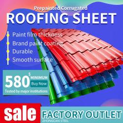 Премьер-Prepainted алюминиевый лист железа/ PPGL стальную пластину PPGI цинка с полимерным покрытием оцинкованной /Prepainted гофрированные стальные листа крыши