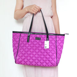 Leve uma grande capacidade de trabalho de Nylon Tote Business School Pink Roxo Saco de ombro