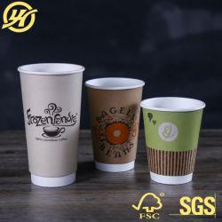 La plastica di bambù biodegradabile concimabile delle tazze di carta del caffè di PLA libera