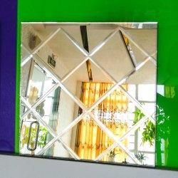 Frameless 거실 홈 유리제 LED를 확대하는 미장원은 장식 벽을 비춘다