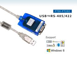 Usb 2.0 a RS485-R422 Chip Ftdi: Windows 10 Compatibles Adaptador USB a serie