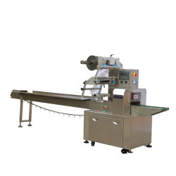 Écoulement de type horizontal automatique oreiller Masque de la machine de conditionnement alimentaire/Biscuit/Wafer/Cookie/pain plein débit automatique Servo Muti-Function Wrap/emballage /l'emballage