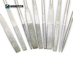 Het galvaniseren van Praktische Kabel 10 van het Mes van de Diamant Malende in Dossier van het Handvat van de Molen van de Dossiers van 1 Uitrusting het Plastic vlak Geneigde