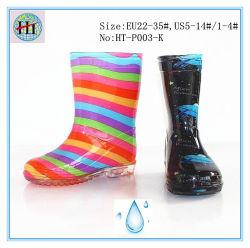 Kid's coloridos sapatos de chuva e muito bonita de chuva de PVC, calçado de exterior Kid Botas de chuva, as crianças confortáveis, à prova de inicialização de chuva Botas de crianças, Kid transparentes as sapatas de chuva