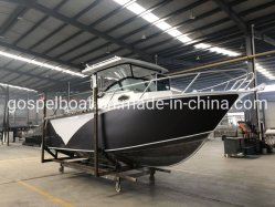 25 pieds de l'aluminium Bateau Bateau de pêche Cuddy cabine