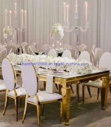 Baratos moderno acabado en dorado Silla de acero inoxidable y un salón de banquetes de boda