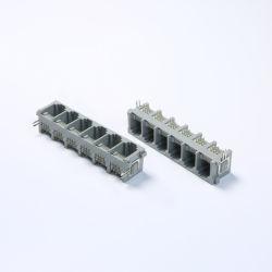 1X6, entrada lateral de los puertos de PCB Jack modular RJ11