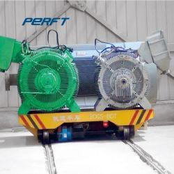 Chariot à plat des chemins de fer motorisé alimenté par batterie