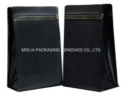 Moisture-Proof Передний нагрузочный молнию до плоской нижней части окна герметичность упаковки Bag