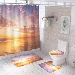 Sem quantidade mínima de Design Personalizado à prova de impressão de banho de poliéster a cortina do chuveiro 3D a impressão digital de banho cortina do chuveiro 048