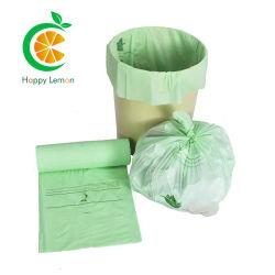 100% 生分解性印刷フラットプレーンロールパックガロンガベージバッグ
