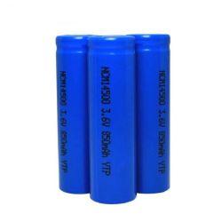Dlg Ncm las baterías de ión de litio 14500 3,6 850mAh 500 ciclos de iones de litio recargable cilíndrica la celda 2c profunda de las baterías cilíndricas de descarga