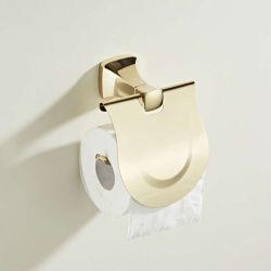 Op maat gemaakt roestvrij staal 304 Badkamer Toilet papierrol houder Goud