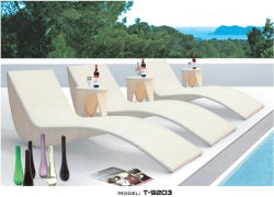 Im FreienmöbelPoolsideweidensun-Bett PET Rattan-Tagesbett